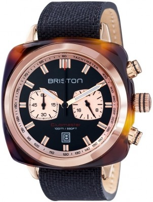 Ceas Barbatesc BRISTON Clubmaster Sport Acetate Chrono 15142.PRA.TS.1.LSB