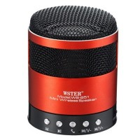 Boxa portabila Wster WS-851, Bluetooth, Radio FM, USB, microSD, Handsfree, 600mAh, Red