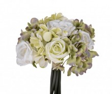 Buchet flori artificiale Ortensie Rose White