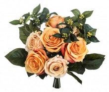 Buchet flori artificiale Rose Bouquet Apricot
