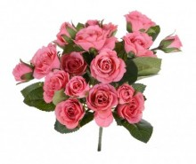 Buchet flori artificiale Roses Pink