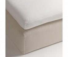 Cearsaf cu elastic pentru saltea aditionala Percale Persey White 140x200 cm