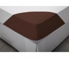 Cearsaf de pat cu elastic Percale Comfort Brown 90x190 cm