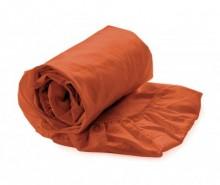 Cearsaf de pat cu elastic Satin Mecca Orange 90x200 cm