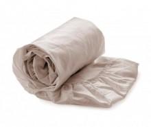 Cearsaf de pat cu elastic Satin Misty Rose 90x200 cm