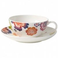 Ceasca si farfuriuta ceai Villeroy & Boch Anmut Bloom 0.20 litri