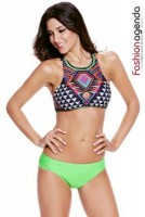 Costum de Baie Sunset Green