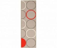 Covor Cucina Circle Beige Red 57x200 cm