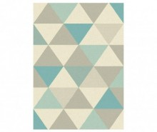 Covor Focus Triangles Blue 80x150 cm