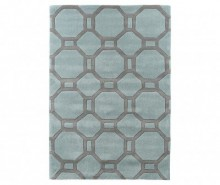 Covor Hex Blue and Grey 150x230 cm