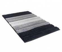 Covoras de baie Stripes Black 50x70 cm