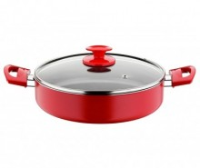 Cratita cu capac Cooking Red Black 3.7 L