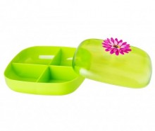 Cutie cu capac pentru ceai Flower Power Green