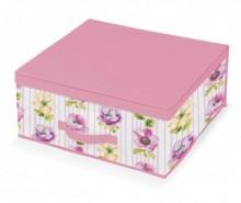 Cutie cu capac pentru depozitare Beauty Flowers M