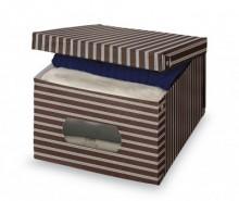 Cutie cu capac pentru depozitare Brown Stripes S