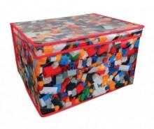 Cutie pliabila cu capac pentru depozitare Bricks