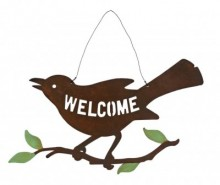 Decoratiune de perete Bird on Branch Welcome