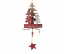 Decoratiune suspendabila Starry Tree Red