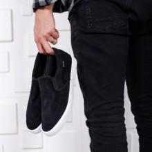 Espadrile Dranko negre confortabile