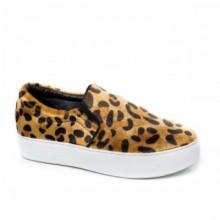 Espadrile Sesuna leopard comode