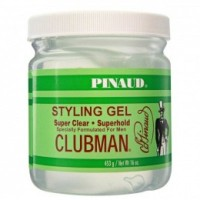 Gel Transparent cu Fixare Puternica - Clubman Pinaud Styling Gel Super Clear 453 ml