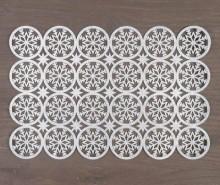 Individual Snow Star Silver 35x45 cm