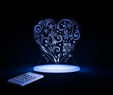 Lampa de veghe Love Heart