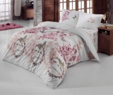 Lenjerie de pat Double Ranforce Romans Pink Rose