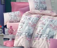 Lenjerie de pat King Ranforce Holiday Pink