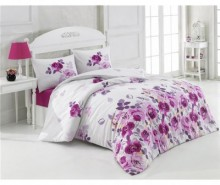 Lenjerie de pat Single Ranforce Alanis Lilac