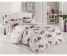 Lenjerie de pat Single Ranforce Crown Lila