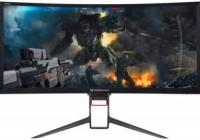 Monitor Gaming VA LED Acer 35inch Z35PBMIPHZ, UW-QHD (3440 x 1440), HDMI, DisplayPort, Ecran curbat, Boxe, G-Sync, 100 Hz, 4 ms (Negru)