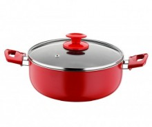 Oala cu capac Cooking Red Black 6.3 L