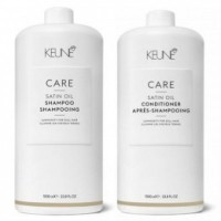 Pachet Keune Care Satin Oil 1000 ml - Sampon si Balsam