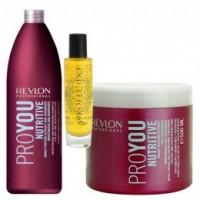 Pachet Nutritiv Revlon Professional Pro You Nutritive - Sampon, Masca si Elixir