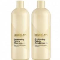 Pachet pentru Par Blond Label.m Brightening Blonde - Sampon si Balsam 1000 ml