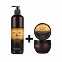 Pachet promotional sampon 300 ml +masca 250 ml hranitoare - Argan de luxe Professional