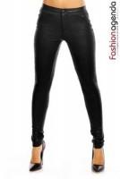 Pantaloni din Piele Jordan Negri