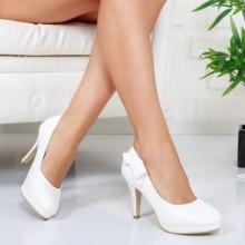 Pantofi Aleti albi eleganti