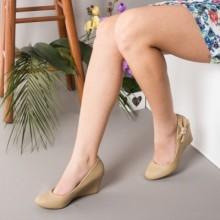 Pantofi Catherine khaki cu talpa ortopedica