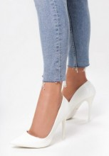 Pantofi cu toc Rosalina Albi