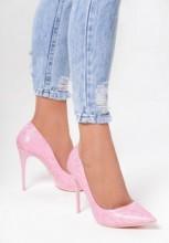 Pantofi cu toc Rosalina Roz