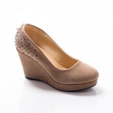 Pantofi dama Vinesa khaki cu platforma