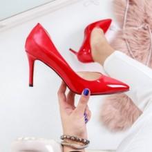 Pantofi Haviva rosii cu toc