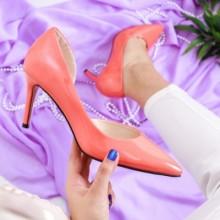Pantofi Haviva roz cu toc