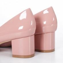 Pantofi Himina roz cu toc mic