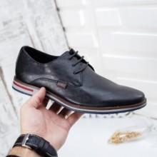 Pantofi Lindu negri casual
