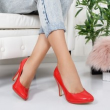 Pantofi Malou rosii cu toc