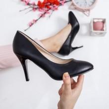 Pantofi Misico negri cu toc