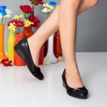 Pantofi Mohana negri cu talpa ortopedica